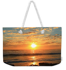 Rolling Over Rocks Weekender Tote Bag by Catie Canetti
