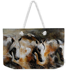 Weekender Tote Bag featuring the painting Rolling Thunder by Barbie Batson