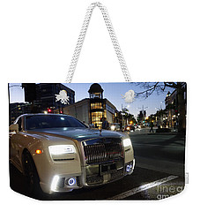 Rolls Royce Parked At The Bottom Of Rodeo Drive Weekender Tote Bag by Nina Prommer
