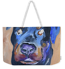 Weekender Tote Bag featuring the painting Roman by Donna Tuten
