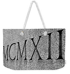Roman Numerals Carved In Stone Weekender Tote Bag