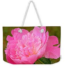 Pink Peony Weekender Tote Bag by Eunice Miller
