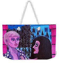 Weekender Tote Bag featuring the painting Romantic Couple by Don Pedro De Gracia