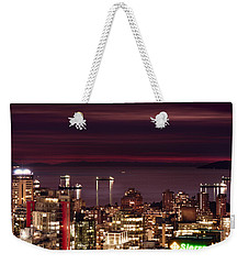 Weekender Tote Bag featuring the photograph Romantic English Bay Mdcci by Amyn Nasser