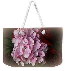 Weekender Tote Bag featuring the photograph Romantic Floral Fantasy Bouquet by Kay Novy