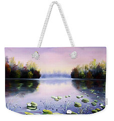 Romantic Lake Weekender Tote Bag