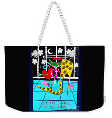 Weekender Tote Bag featuring the painting Romantic Shoe by Don Pedro De Gracia