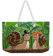 Romantic Snails On A Date Weekender Tote Bag