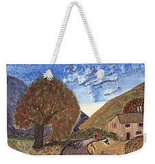 Weekender Tote Bag featuring the painting Romantic Walk by Tracey Williams