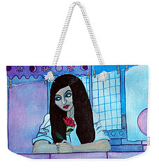 Romantic Woman In The Terrace At Night Weekender Tote Bag by Don Pedro De Gracia