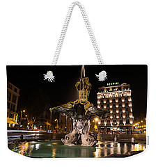 Rome's Fabulous Fountains - Bernini's Fontana Del Tritone Weekender Tote Bag by Georgia Mizuleva