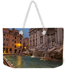 Rome's Fabulous Fountains - Trevi Fountain At Dawn Weekender Tote Bag by Georgia Mizuleva