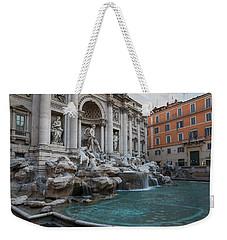 Rome's Fabulous Fountains - Trevi Fountain No Tourists Weekender Tote Bag