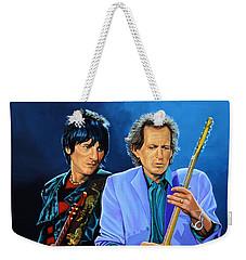 Ron Wood And Keith Richards Weekender Tote Bag by Paul Meijering