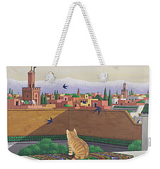 Rooftops In Marrakesh Weekender Tote Bag by Larry Smart