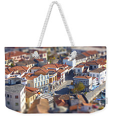 Weekender Tote Bag featuring the photograph Rooftops by Vicki Spindler