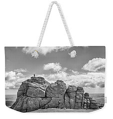 Weekender Tote Bag featuring the photograph Room On Top by Howard Salmon