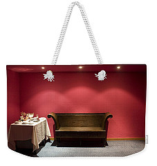 Weekender Tote Bag featuring the photograph Room Service by Lynn Palmer