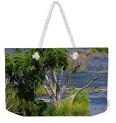 Weekender Tote Bag featuring the photograph Roosevelt Lake Rising To New Height by Tom Janca