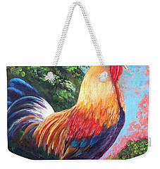 Rooster For Elaine Weekender Tote Bag by Bozena Zajaczkowska