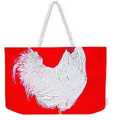 Rooster For The Cafe Weekender Tote Bag by Jan Matson