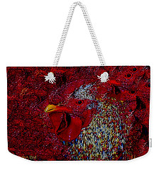 Rooster Red Weekender Tote Bag