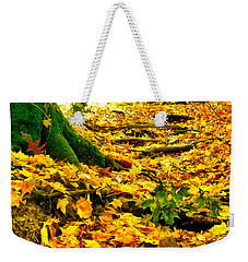 Weekender Tote Bag featuring the photograph Root Steps by Zafer Gurel