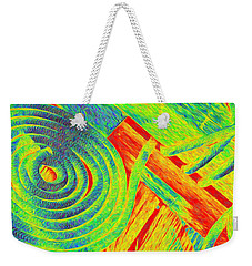 Rope Abstract Weekender Tote Bag by Richard Farrington
