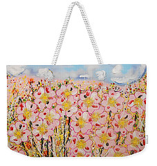Rosa Ruby Flower Garden Weekender Tote Bag