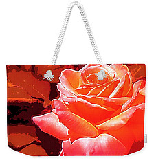 Weekender Tote Bag featuring the photograph Rose 1 by Pamela Cooper