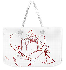 Weekender Tote Bag featuring the digital art Rose 2 by Ludwig Keck