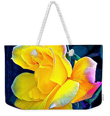 Weekender Tote Bag featuring the photograph Rose 4 by Pamela Cooper