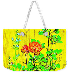 Weekender Tote Bag featuring the photograph Rose 9 by Pamela Cooper