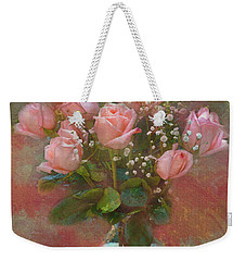 Rose Bouquet Weekender Tote Bag by Sandi OReilly