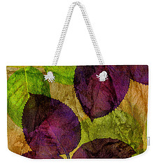 Rose Clippings Mural Wall Weekender Tote Bag