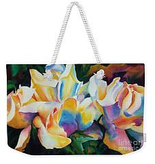 Rose Cluster Half Weekender Tote Bag by Kathy Braud