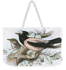 Rose Coloured Starling Weekender Tote Bag by English School