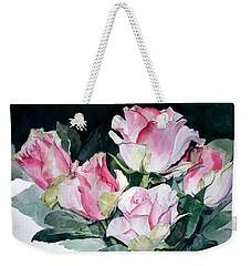 Watercolor Of A Pink Rose Bouquet Celebrating Ezio Pinza Weekender Tote Bag