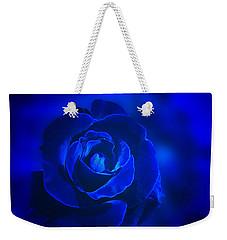 Rose In Blue Weekender Tote Bag