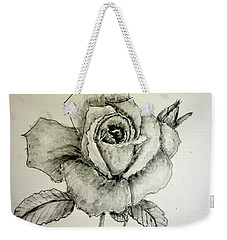 Rose In Monotone Weekender Tote Bag