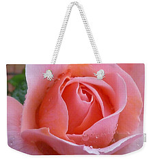Weekender Tote Bag featuring the photograph Rose In The Rain by Lingfai Leung