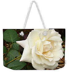Rose In The Rain Weekender Tote Bag