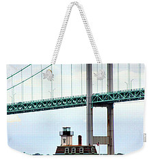 Rose Island Lighthouse Weekender Tote Bag