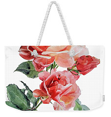 Watercolor Of Red Roses On A Stem I Call Rose Maurice Corens Weekender Tote Bag