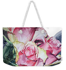 Pink Rose Michelangelo Weekender Tote Bag by Greta Corens
