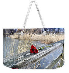 Weekender Tote Bag featuring the photograph Rose On A Bridge by Verana Stark