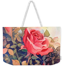 Rose On A Warm Day Weekender Tote Bag by Marilyn Jacobson