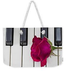 Rose Over Piano Keys Weekender Tote Bag