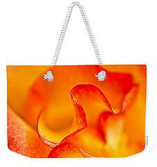 Rose Petals Closeup Weekender Tote Bag