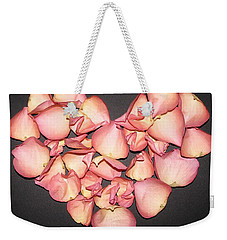 Rose Petals Heart Weekender Tote Bag by Eva Csilla Horvath